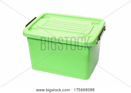 Plastic container storage box isolated on white