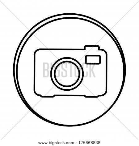 silhouette symbol camera icon, vector illustraction design