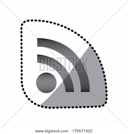 grayscale wife red icon, vector illustraction design image