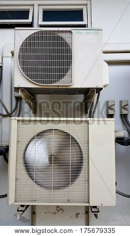 Air Compressor and background air windows .