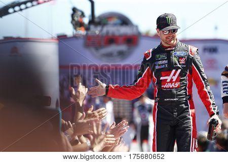 February 26, 2017 - Daytona Beach, Florida, USA: Kurt Busch (41) gets introduced to the crowd for the Daytona 500 at Daytona International Speedway in Daytona Beach, Florida.