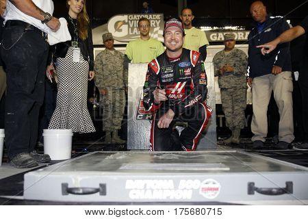 February 26, 2017 - Daytona Beach, Florida, USA: Kurt Busch (41) celebrates in victory lane after winning the Daytona 500 at Daytona International Speedway in Daytona Beach, Florida.
