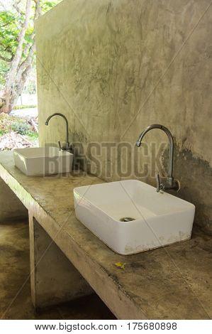 basin in toilet , object in home