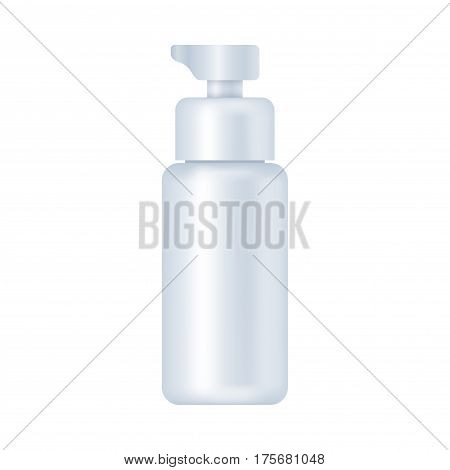 Blank cosmetic package isolated on white background. Tube for cream, shampoo, lotion, emulsion, skin oil, epidermis moisturizer mock up vector illustration