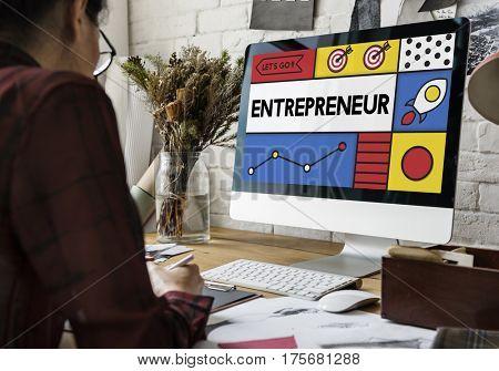 Entrepreneur Develop Enterprise Organizer Word