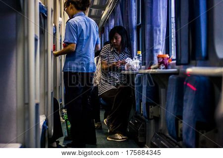 Interior Of A Chinese Train