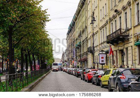 Old Building In Saint Petersburg, Russia