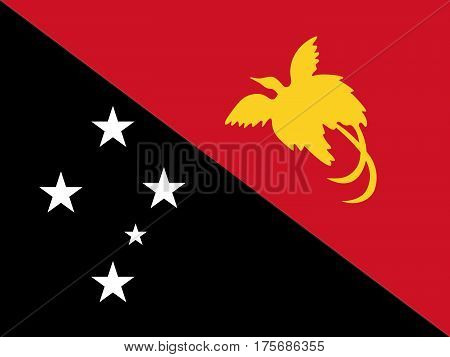 Official vector flag of Independent State of Papua New Guinea .
