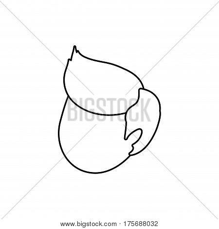 Man head faceless icon vector illustration graphic design