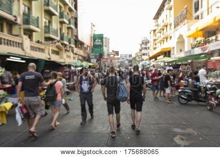 Khao San Blur Tourist
