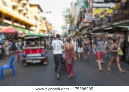 Khao San Blur Crowd