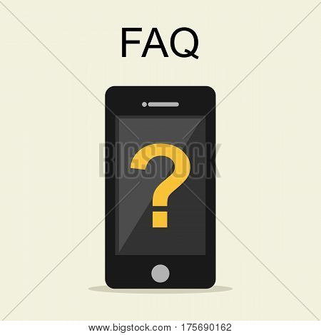Frequently Asked Questions FAQ concept illustration. Online support concept.