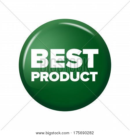 Bright Green Round Button With Word 'best Product'