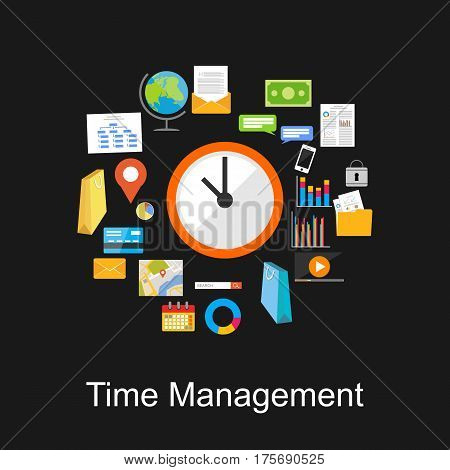 Time management concept . Schedule, business tools