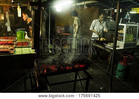 Satay On A Grill