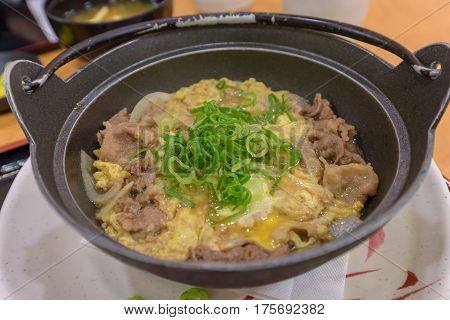 Japanese Simmered Beef And Rice Bowls Recipe (gyudon)