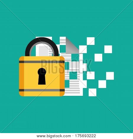 Data protection and encryption symbol concept illustration.
