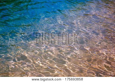 Pure clear water of the Andaman Sea coast. Thailand. Phuket.