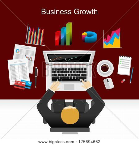 Business analyst , business statistic , business growth , business solution