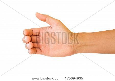 Man Hand To Hold Something