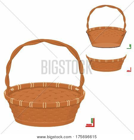 Front of Basket  and Back of basket can be assembled perfectly. Easy to put something in to this basket . It's the good graphic resource