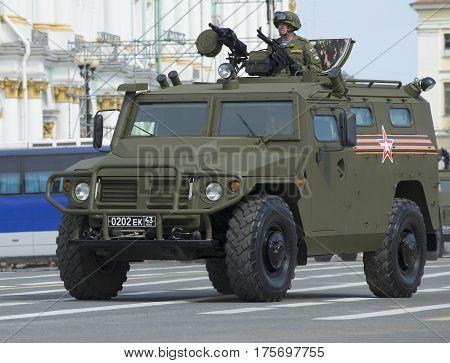SAINT PETERSBURG, RUSSIA - MAY 05, 2015: Armored car
