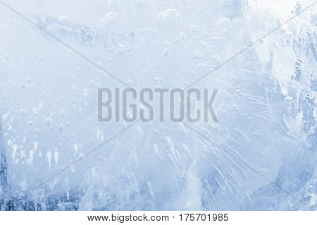 Ice cube texture background macro water pattern frost. Crystal winter design