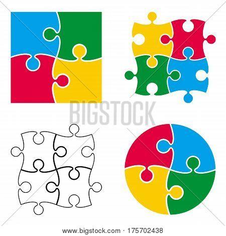 Puzzle Pattern Isolated Set.eps