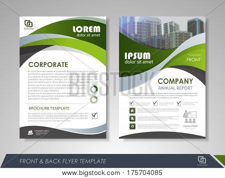 Modern Green Brochure Vector Photo Free Trial Bigstock
