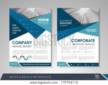 Modern Blue Brochure Design Vector Photo Bigstock