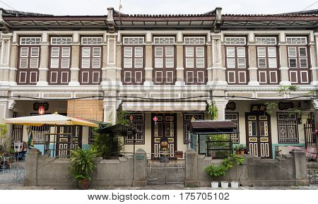 Georgetown Penang Malaysia - February 11 2017:Street scenes in the historic colonial district of GeorgetownPenang Malaysia