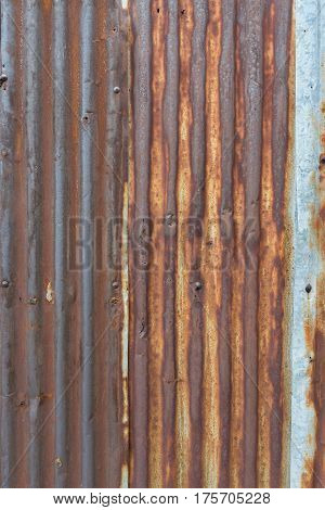 Old rusted galvanized iron plate texture background