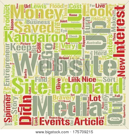 A Bang On The Head A Kangaroo And An Entrepreneur What Happened Next text background word cloud concept