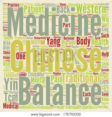 A Basic Overview of Chinese Medicine text background word cloud concept