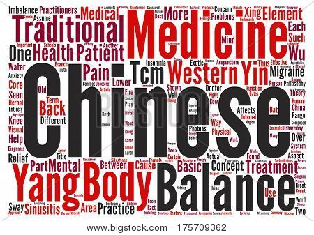 A Basic Overview of Chinese Medicine Word Cloud Concept Text Background