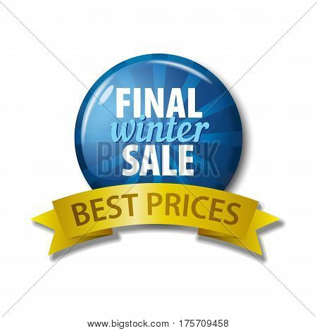 Blue Button With Words 'final Winter Sale - Best Prices'