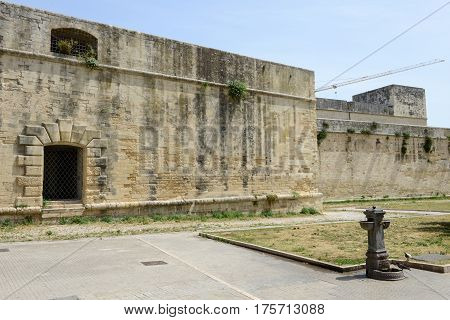 Lecce, Italy - 23 June 2016: Castle of Charles V in Lecce on Puglia Italy