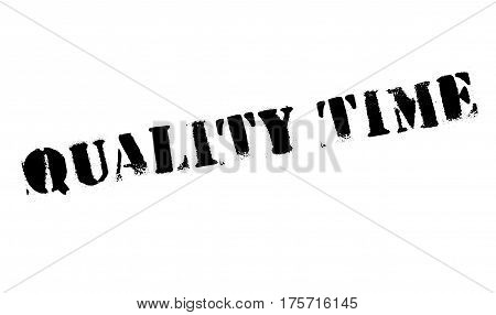 Quality Time rubber stamp. Grunge design with dust scratches. Effects can be easily removed for a clean, crisp look. Color is easily changed.