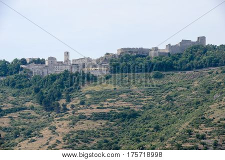 Monte Sant'Angelo, Italy - 28 June 2016: Monte Sant'Angelo on Puglia Italy