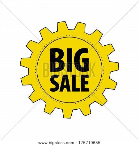 Isolated On White Background. Discount Tag For Industrial Companies,
