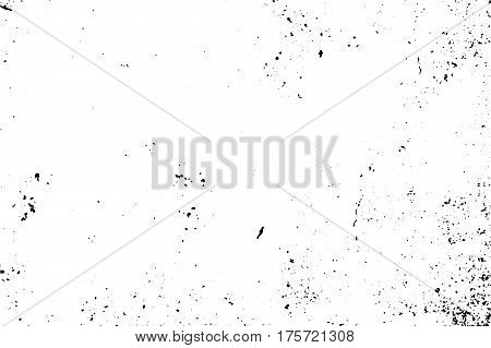 Subtle rustic texture with natural noise and grain. Black stains on transparent background. Rough surface of concrete wall. Vintage effect overlay. Distressed texture vector. Grungy old stone surface
