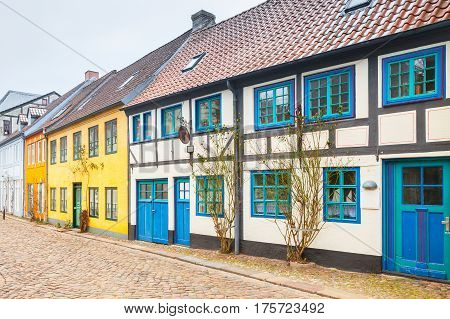 Old Town Of Flensburg City, Germany