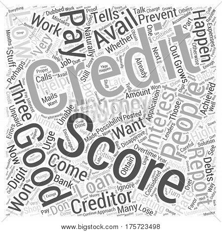 A Good Credit Score Word Cloud Concept