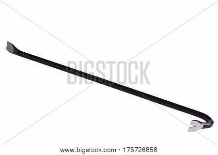 Steel nail puller isolated on white background