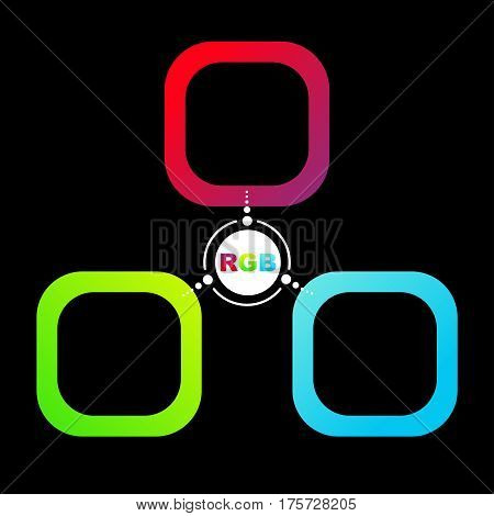 Color system of the RGB vector background