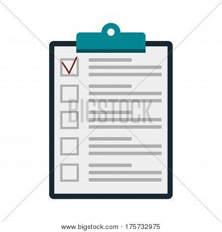 Clipboard icon. Flat design style, vector illustration