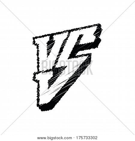 Versus logo isolated on white background. Symbol competition VS vector illustration. Scribble logo vs