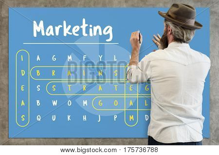 Marketing, Word Search Game Vocabulary Challenge