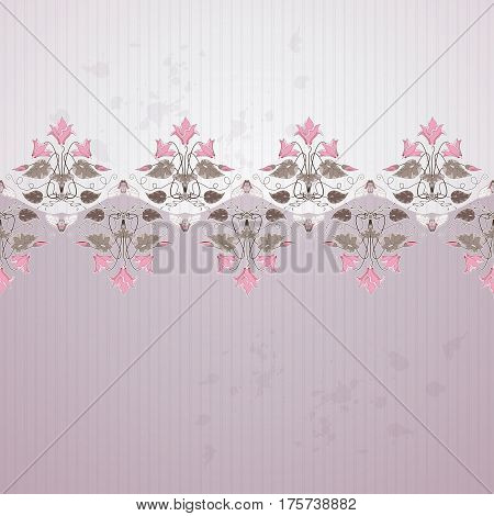 Vector Background. Old Paper, Strips, Blotches And Vintage Border In Modern Style. Decorative Orname