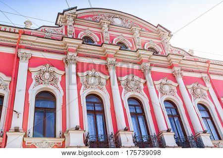 Belosselsky Belozersky Palace In Saint Petersburg